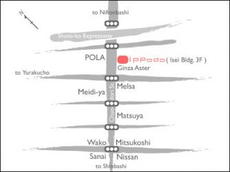 Ginza Ippodo Gallery Map In English